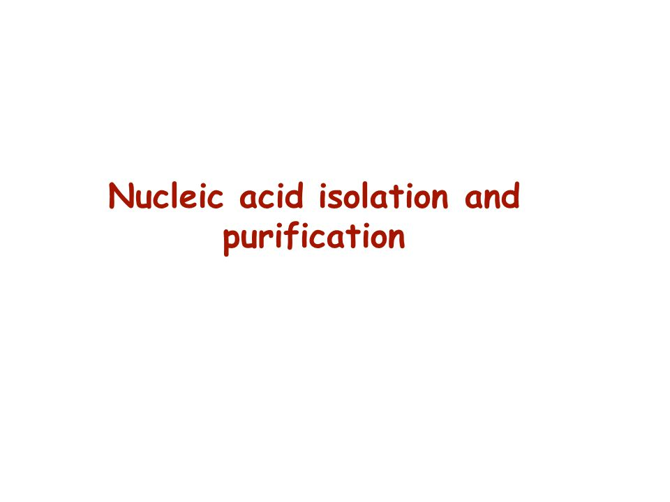 Nucleic acid isolation and purification