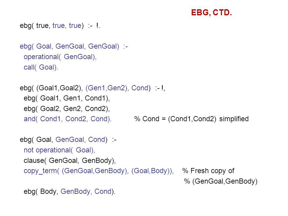 ebg( true, true, true) :- !. ebg( Goal, GenGoal, GenGoal) :- operational( GenGoal), call( Goal).