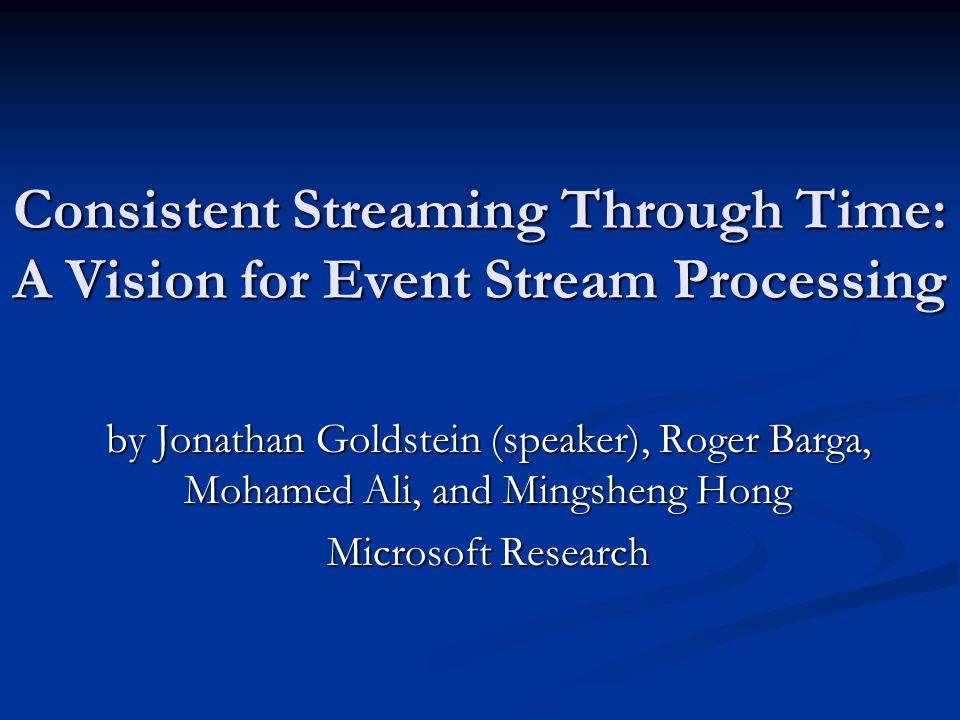 Are StreamSQL semantics ok.