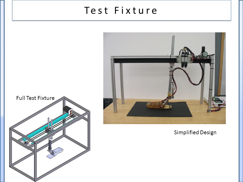 Test Fixture Full Test Fixture Simplified Design