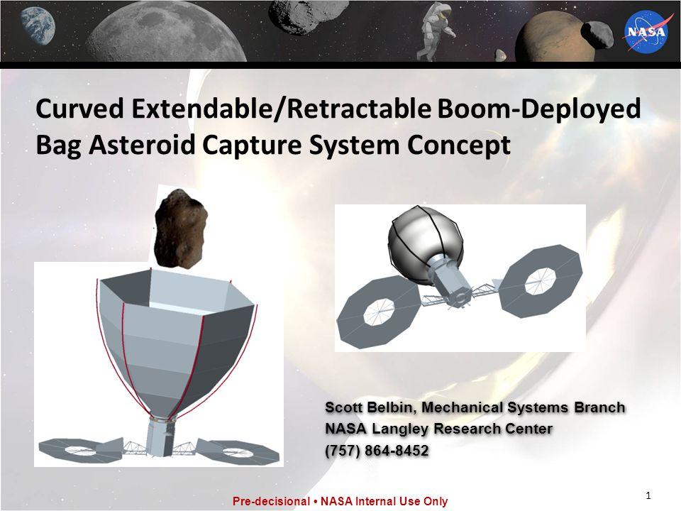 12 Pre-decisional NASA Internal Use Only Design Details Backup