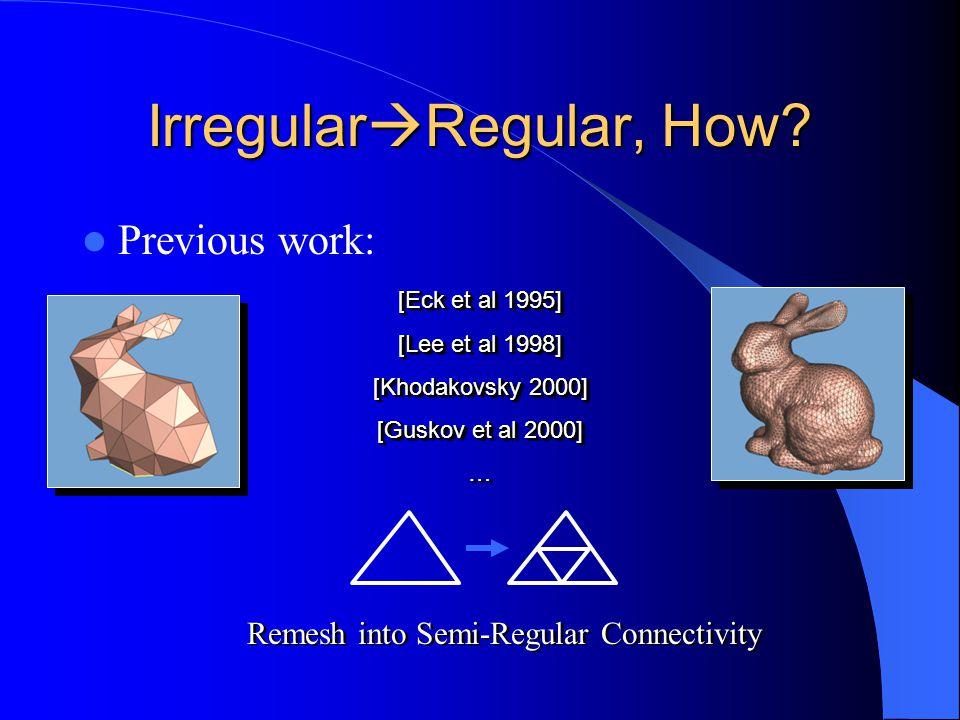 Irregular  Regular, How.