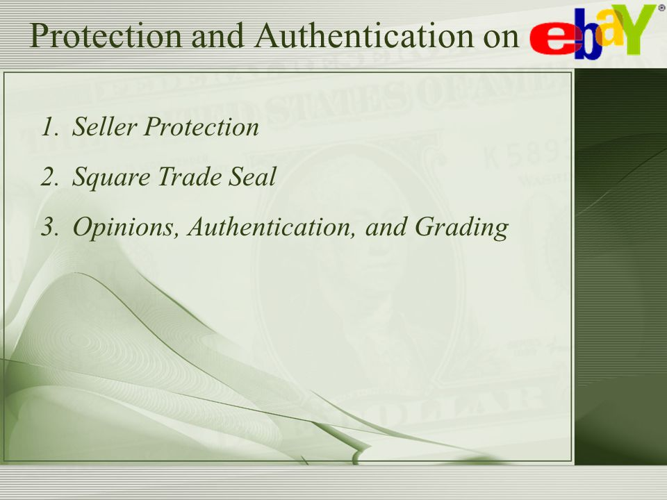 Protection and Authentication on 1.Seller Protection 2.