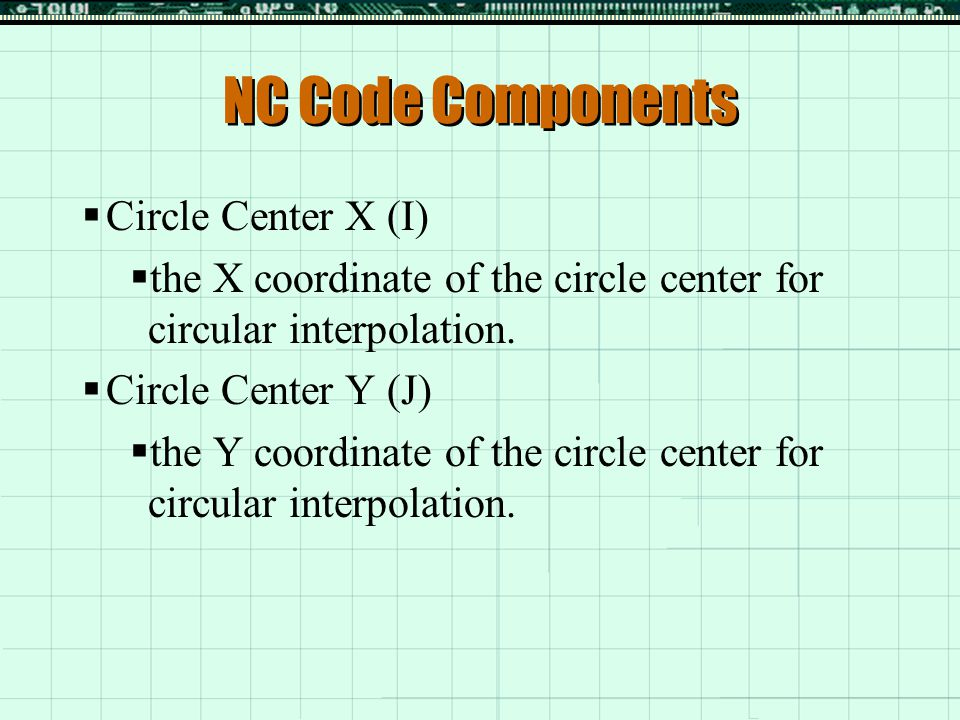 Preparatory: G-Codes  G90 - Absolute Coordinates – makes all coordinates relative to the origin  G91 – Incremental Coordinates – makes new coordinates relative to the last point.