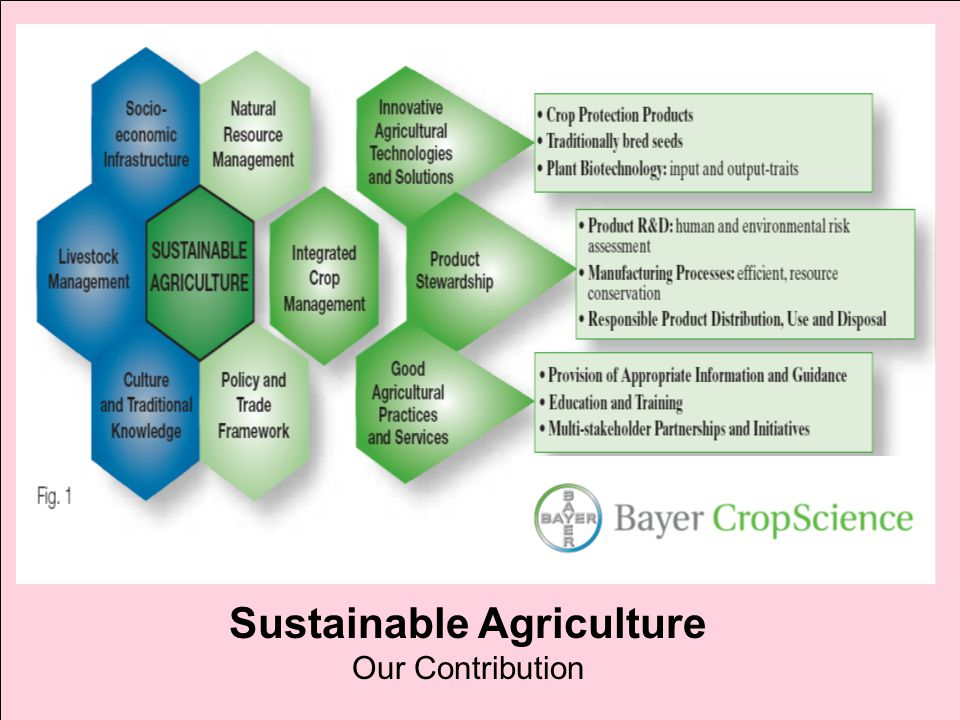 Sustainable Agriculture Our Contribution