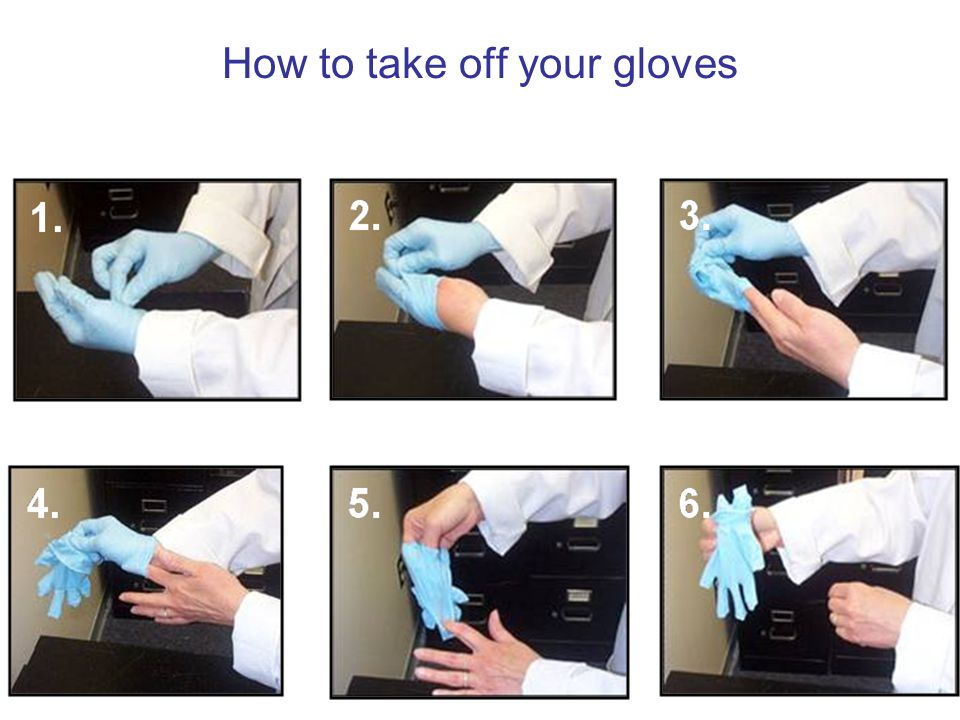 How to take off your gloves