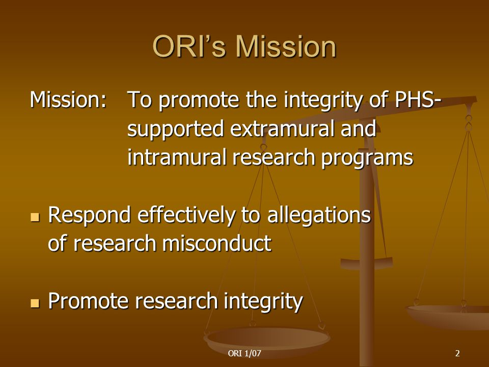 ORI 1/0713 Types of data that have been falsified or fabricated in clinical studies Interviews Interviews Entry criteria Entry criteria Screening logs Screening logs Approval forms Approval forms Follow-up exams/data Follow-up exams/data Consent forms Consent forms Test scores Test scores Laboratory results Patient data Number of subjects Dates of procedures Protocol Study results
