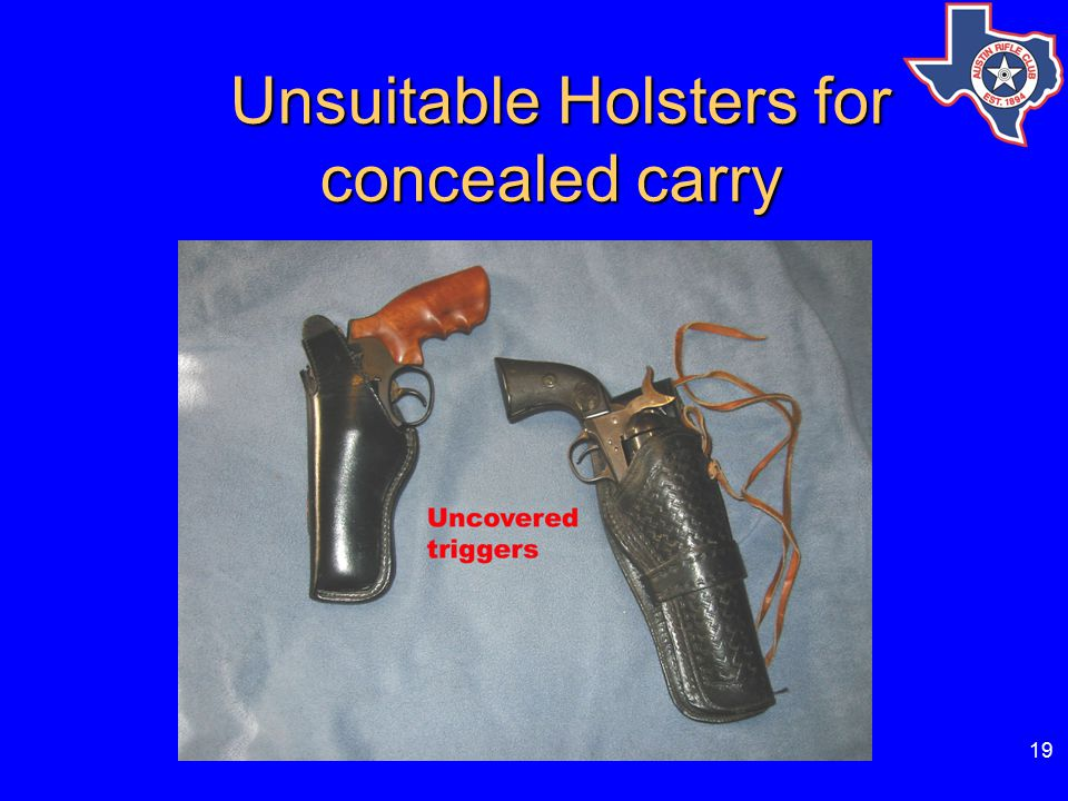 19 Unsuitable Holsters for concealed carry Unsuitable Holsters for concealed carry