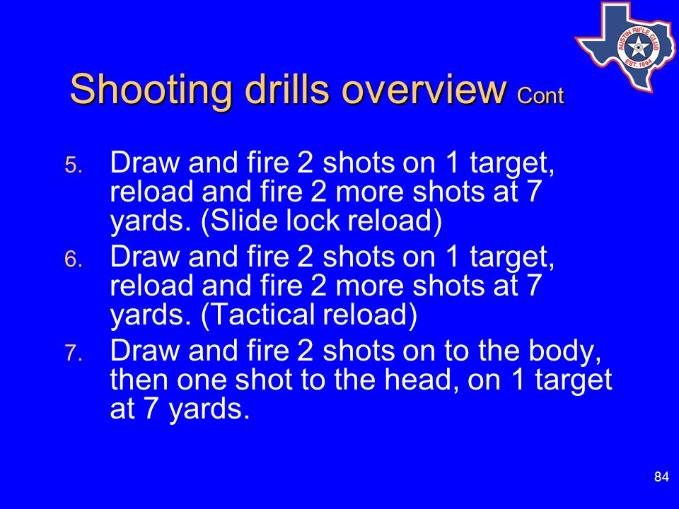 84 Shooting drills overview Cont Shooting drills overview Cont 5.