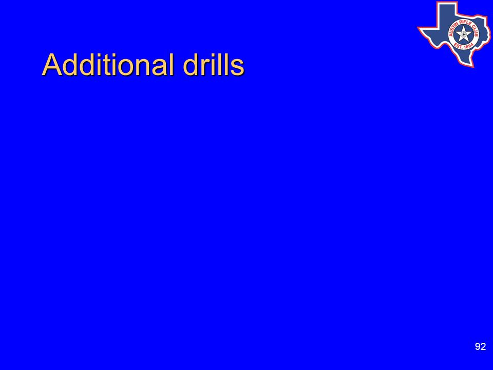 92 Additional drills