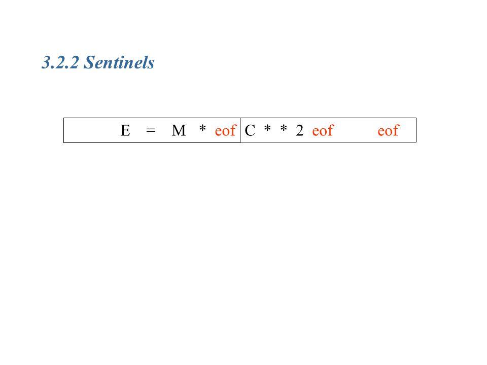 3.2.2 Sentinels E = M * eofC * * 2 eof eof