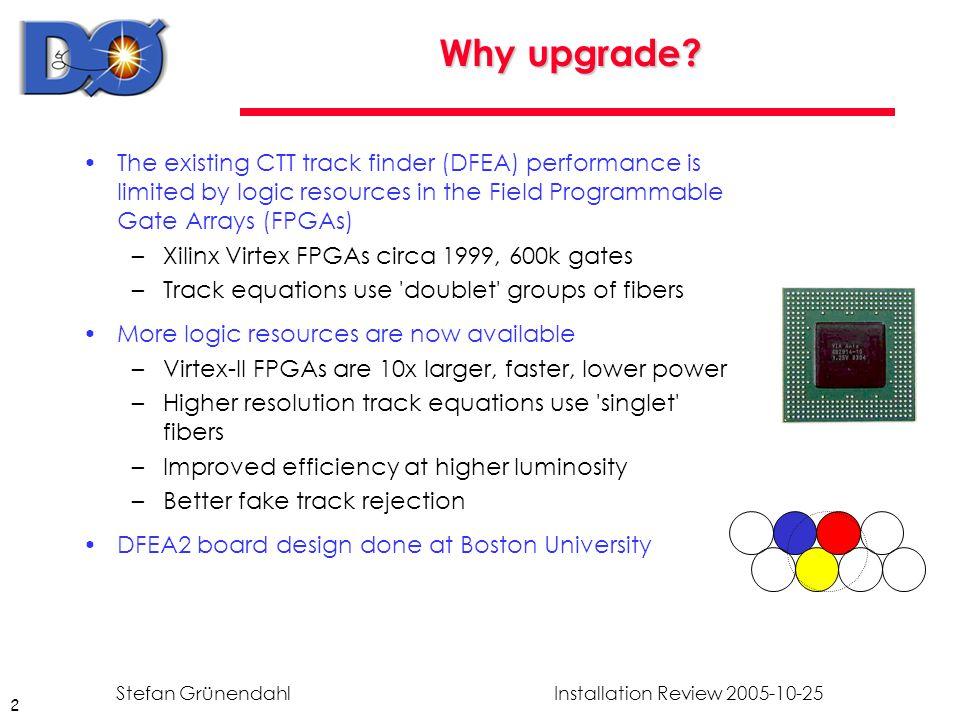 2 Installation Review 2005-10-25Stefan Grünendahl Why upgrade.