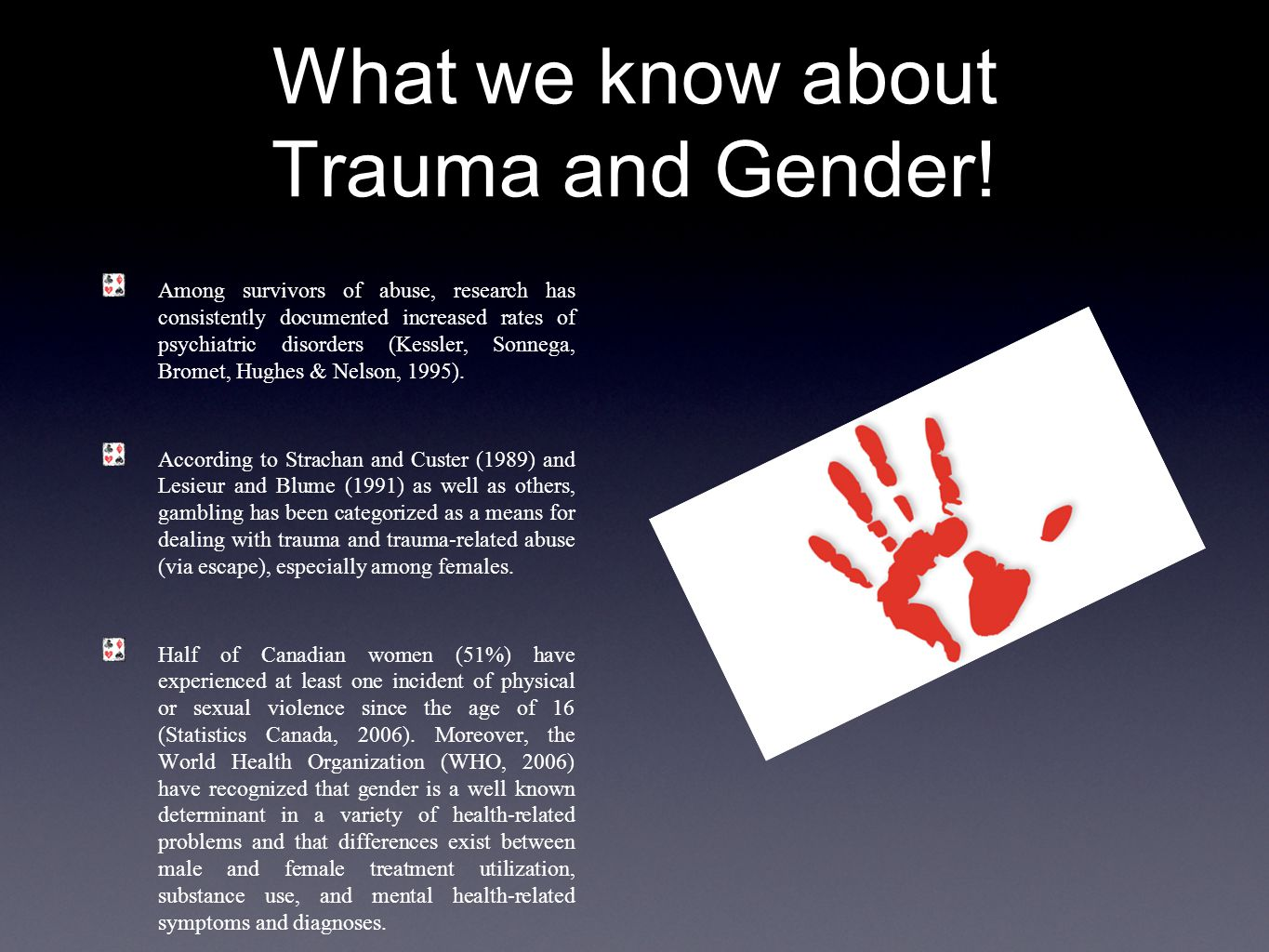 What we know about Trauma and Gender.
