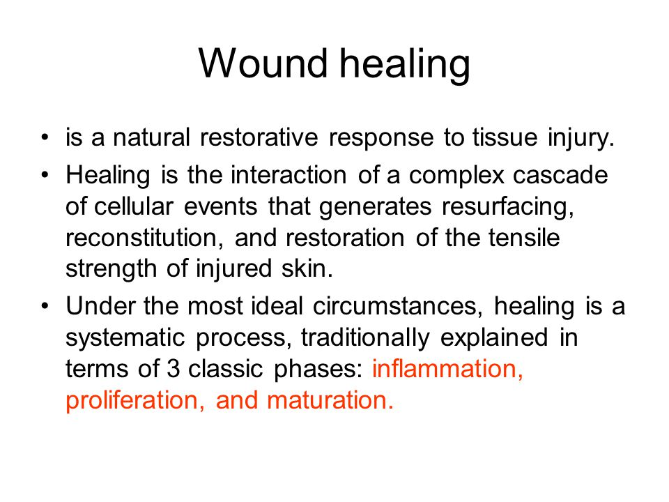 Wound healing is a natural restorative response to tissue injury.