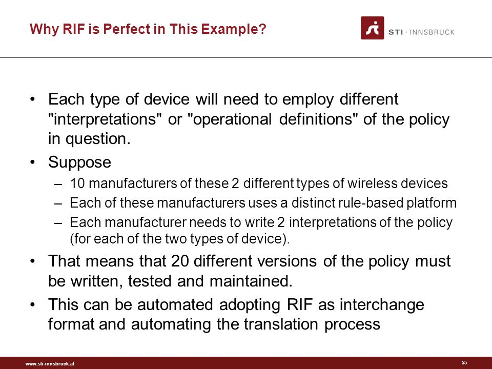 www.sti-innsbruck.at Why RIF is Perfect in This Example.