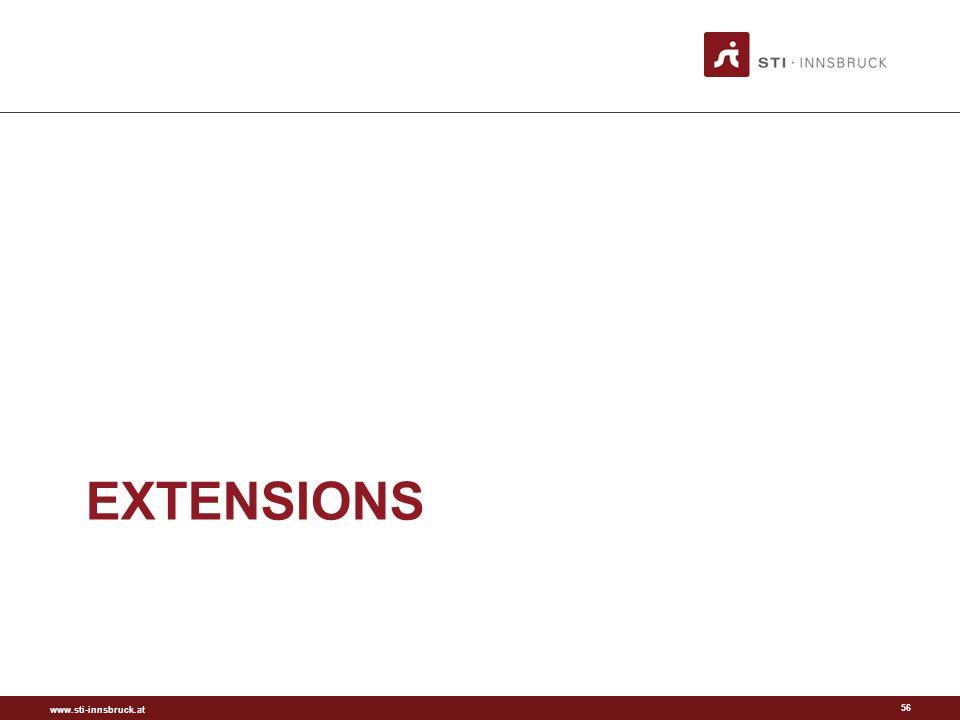 www.sti-innsbruck.at EXTENSIONS 56