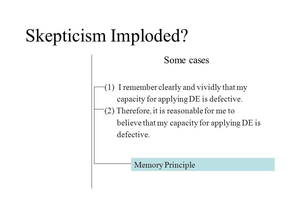 Skepticism Imploded.