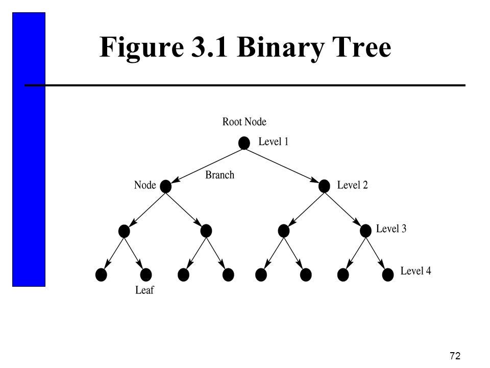72 Figure 3.1 Binary Tree