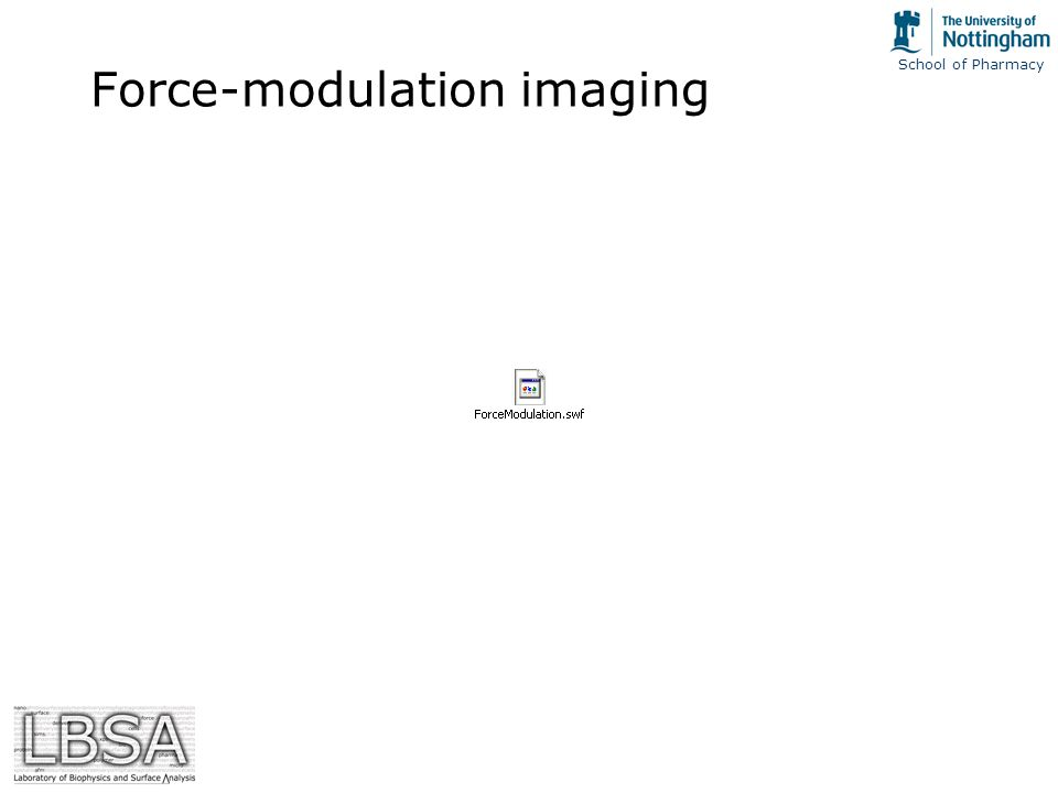School of Pharmacy Force-modulation imaging