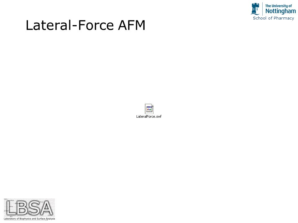 School of Pharmacy Lateral-Force AFM