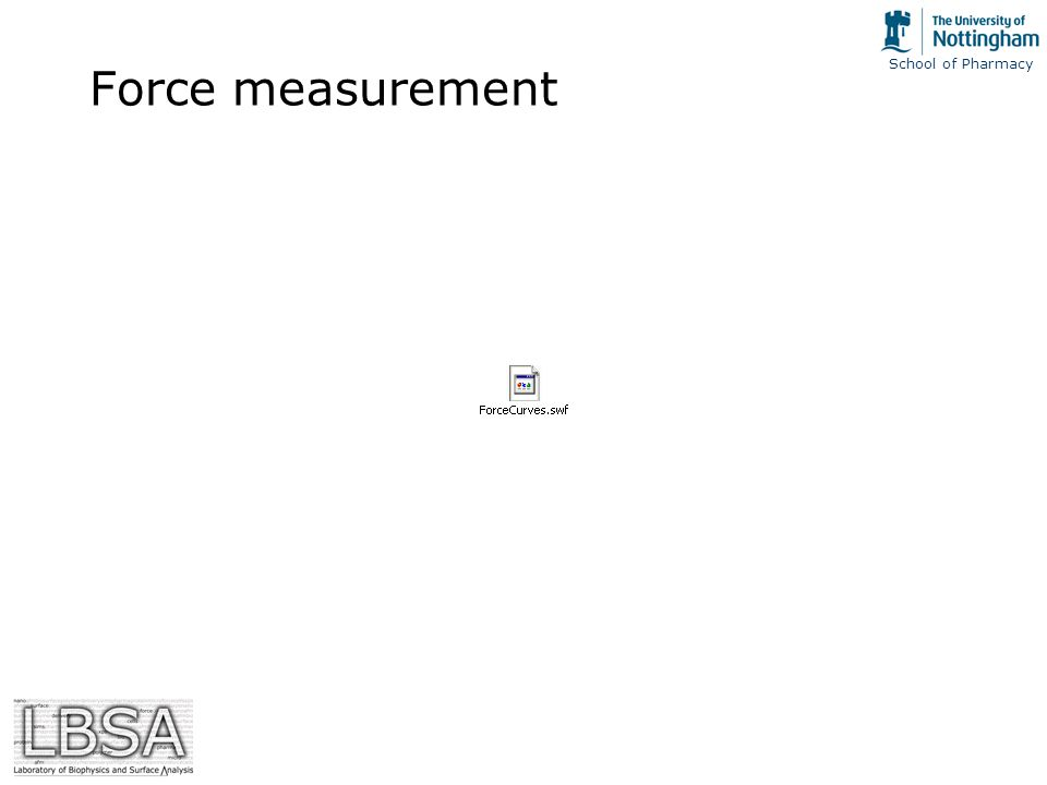 School of Pharmacy Force measurement