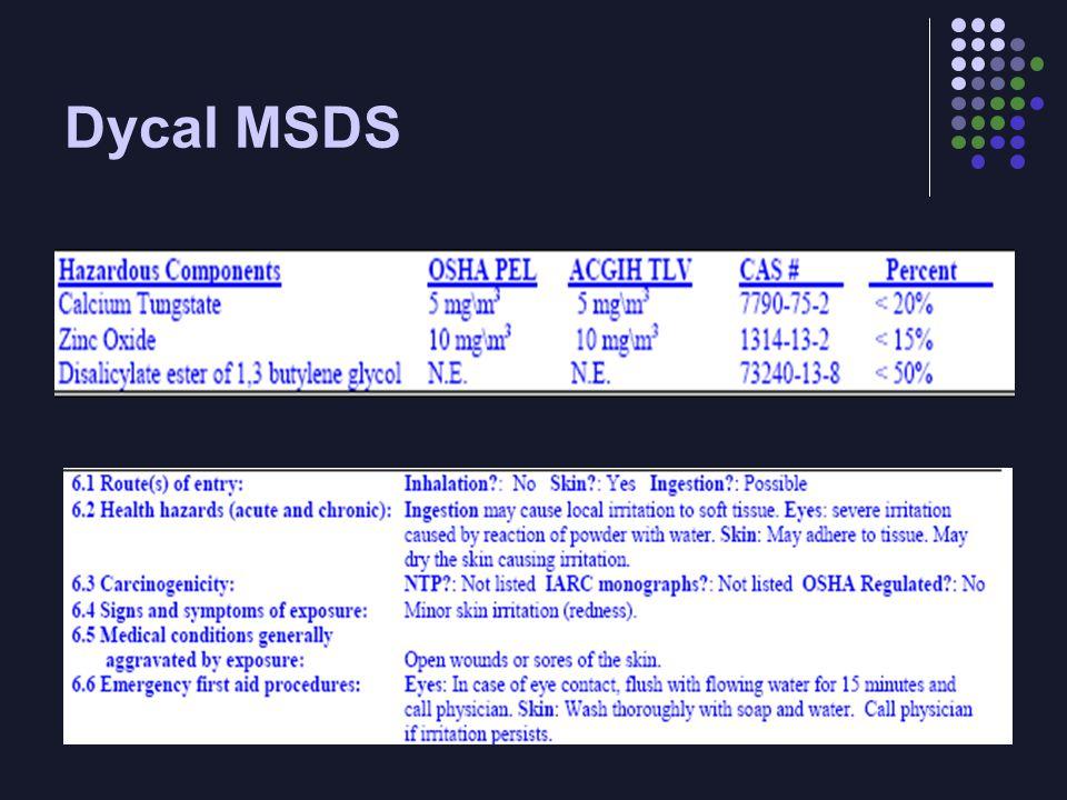 Dycal MSDS