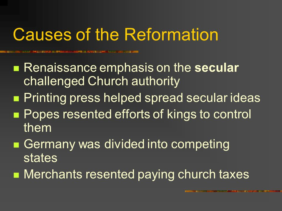 England Becomes Protestant England breaks ties with the Roman Catholic Church for political and personal, not religious, reasons