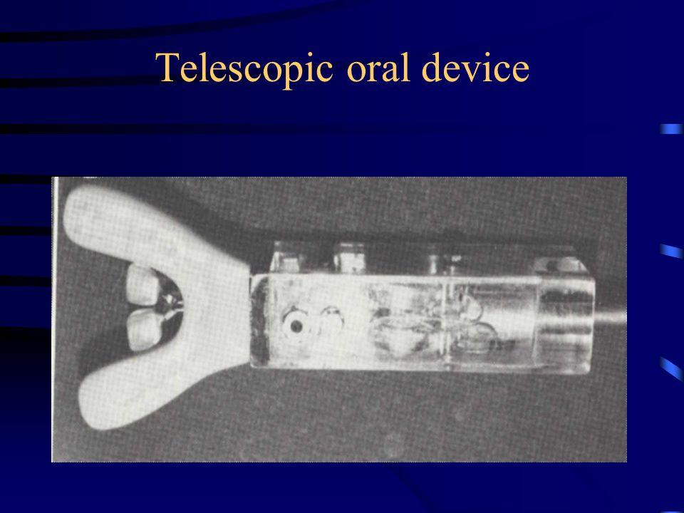 Telescopic oral device