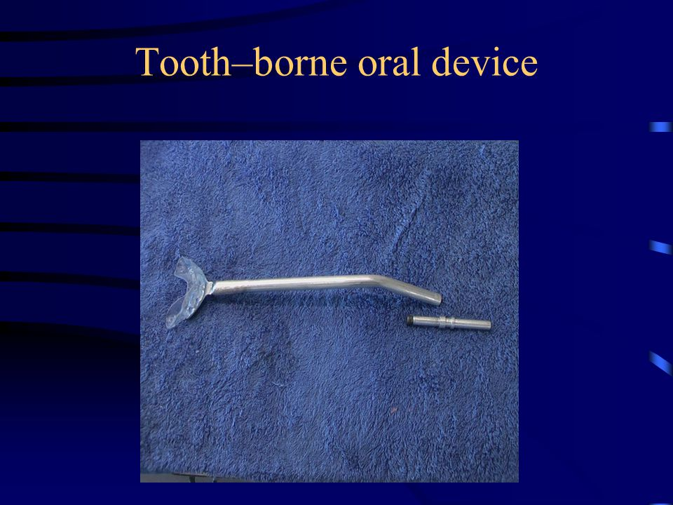 Tooth–borne oral device