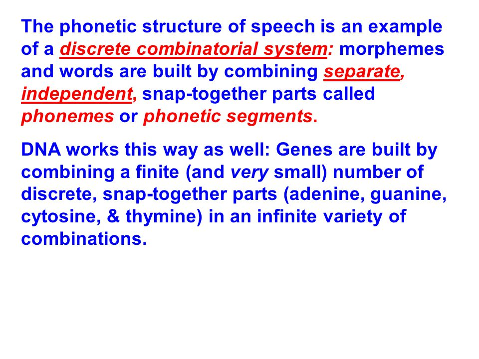 Speech Dynamics The Main Idea: At an abstract linguistic level, phonetic segments ([b], [p], [r], [k], [i], [ ɑ ], [u], etc.) are discrete, independent, interchangeable snap-together parts – like beads on a string.