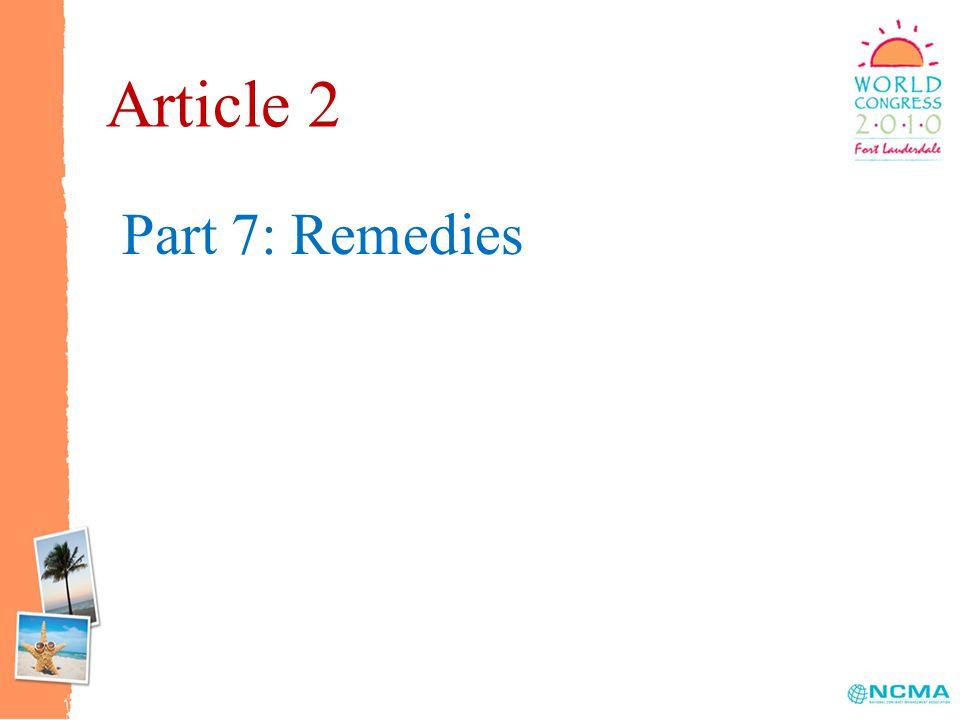 Part 7: Remedies Article 2