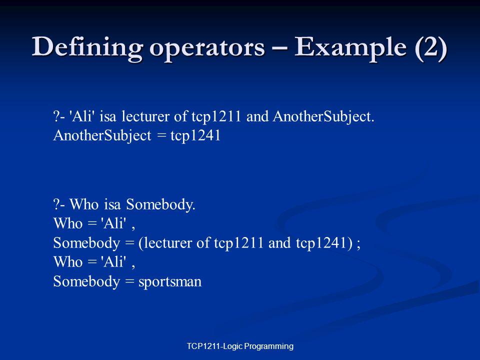 TCP1211-Logic Programming - Who isa Somebody.