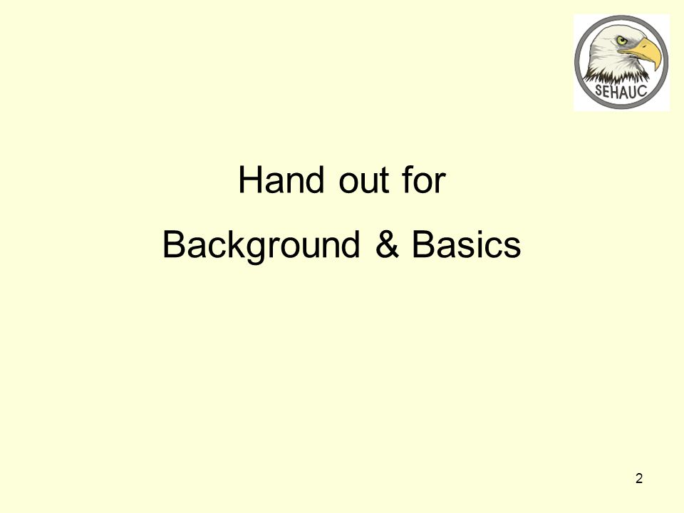 2 Background & Basics Hand out for
