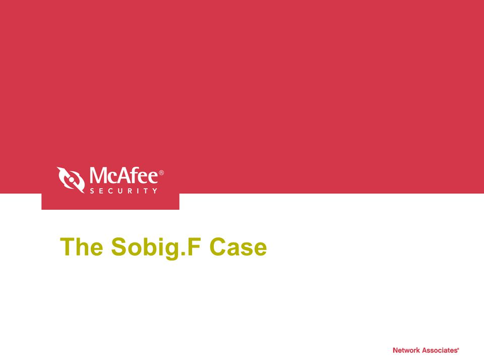 The Sobig.F Case