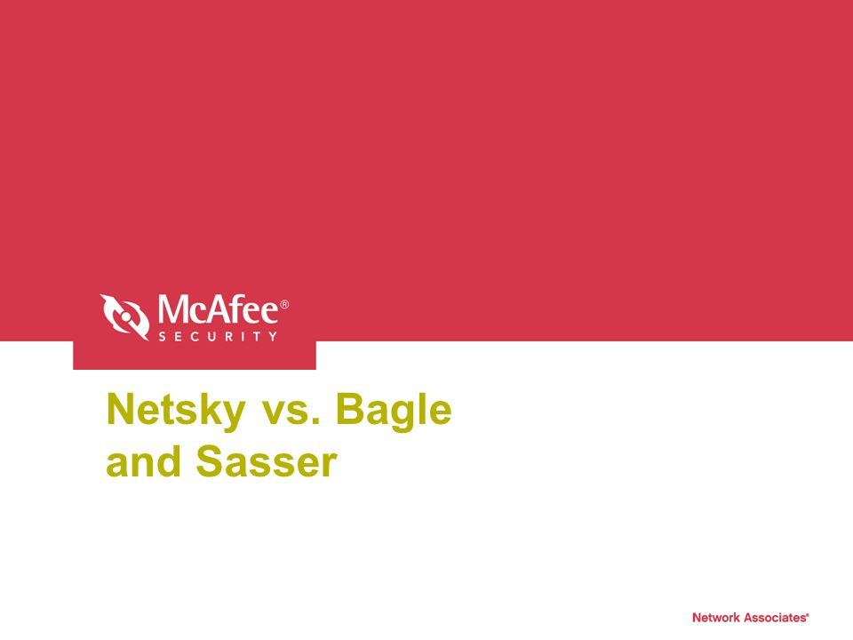 Netsky vs. Bagle and Sasser