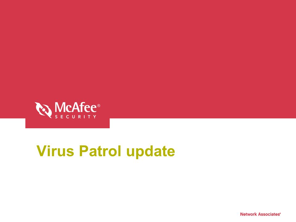 Virus Patrol update