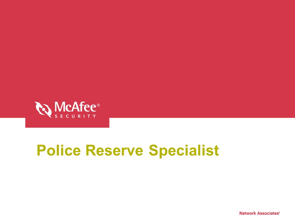 Police Reserve Specialist