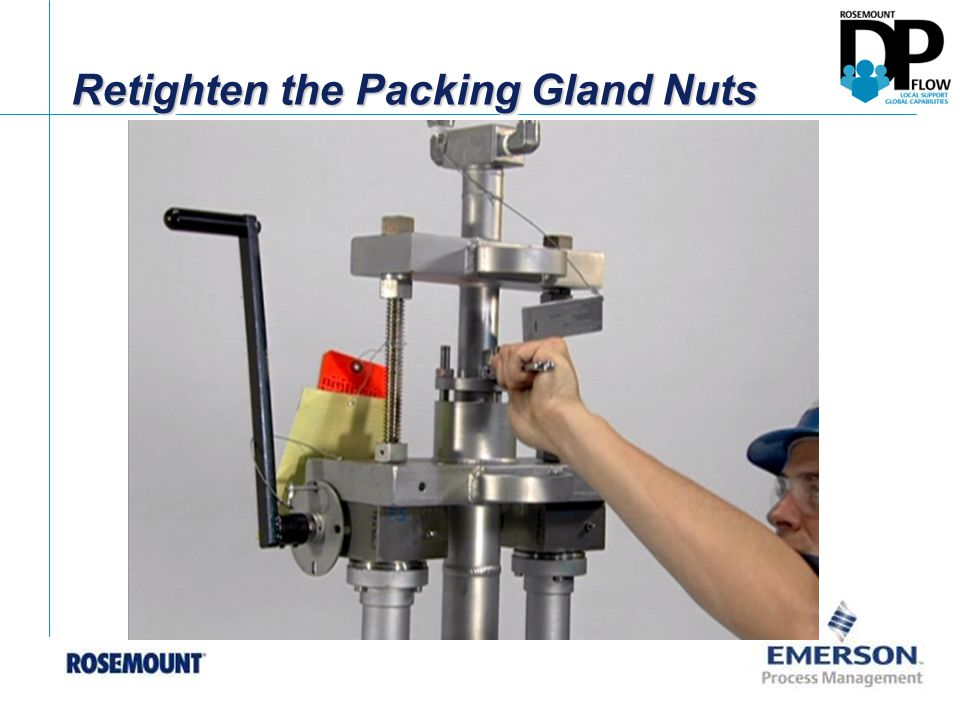 Retighten the Packing Gland Nuts