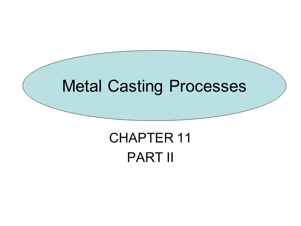 Metal Casting Process Investment Casting Vacuum Casting Permanent-Mold Casting Slush Casting Pressure Casting Die Casting Centrifugal Casting