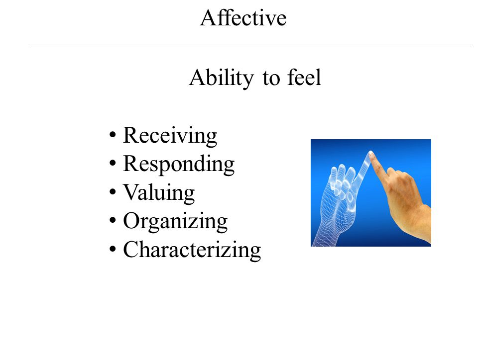 Affective Receiving Being taught.