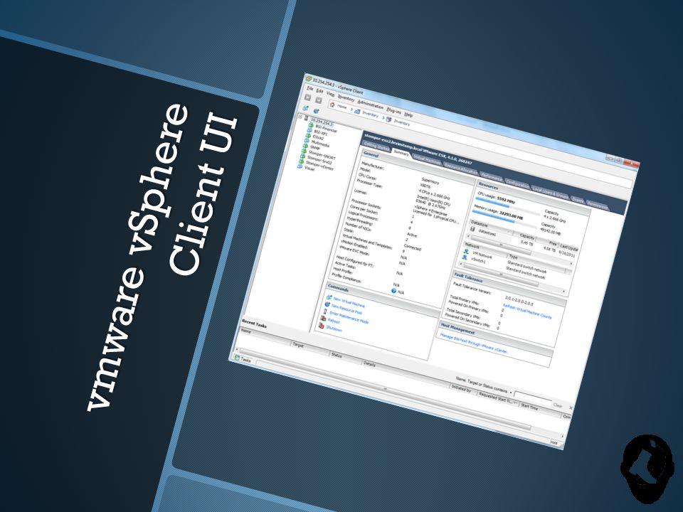 vmware vSphere Client UI