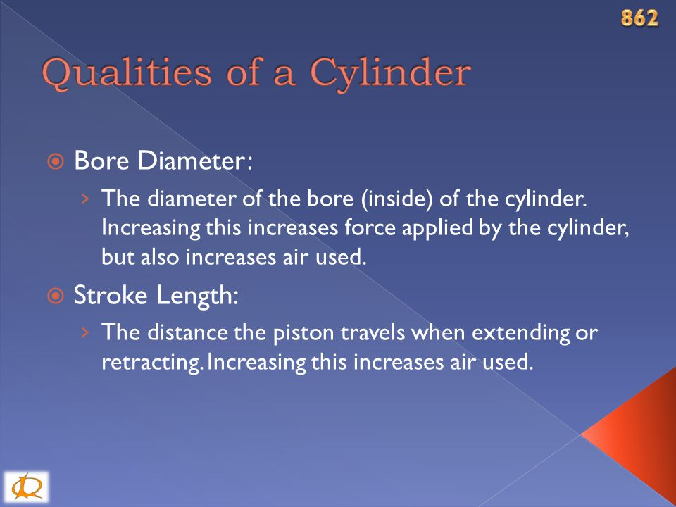  Bore Diameter: › The diameter of the bore (inside) of the cylinder.