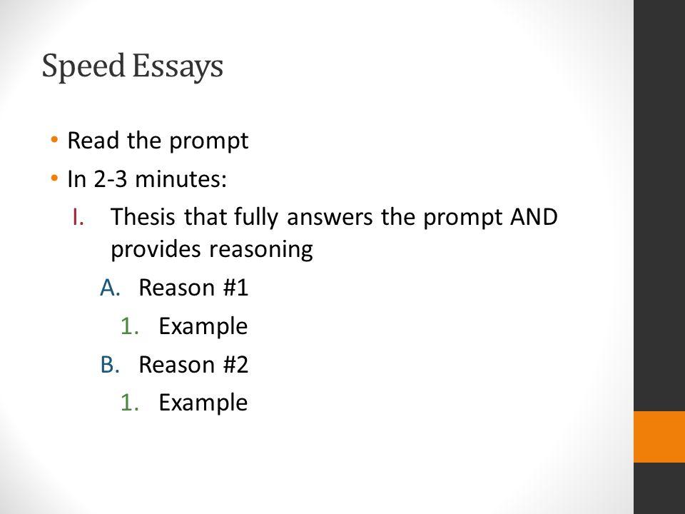 Essay Exam! 25 minutes