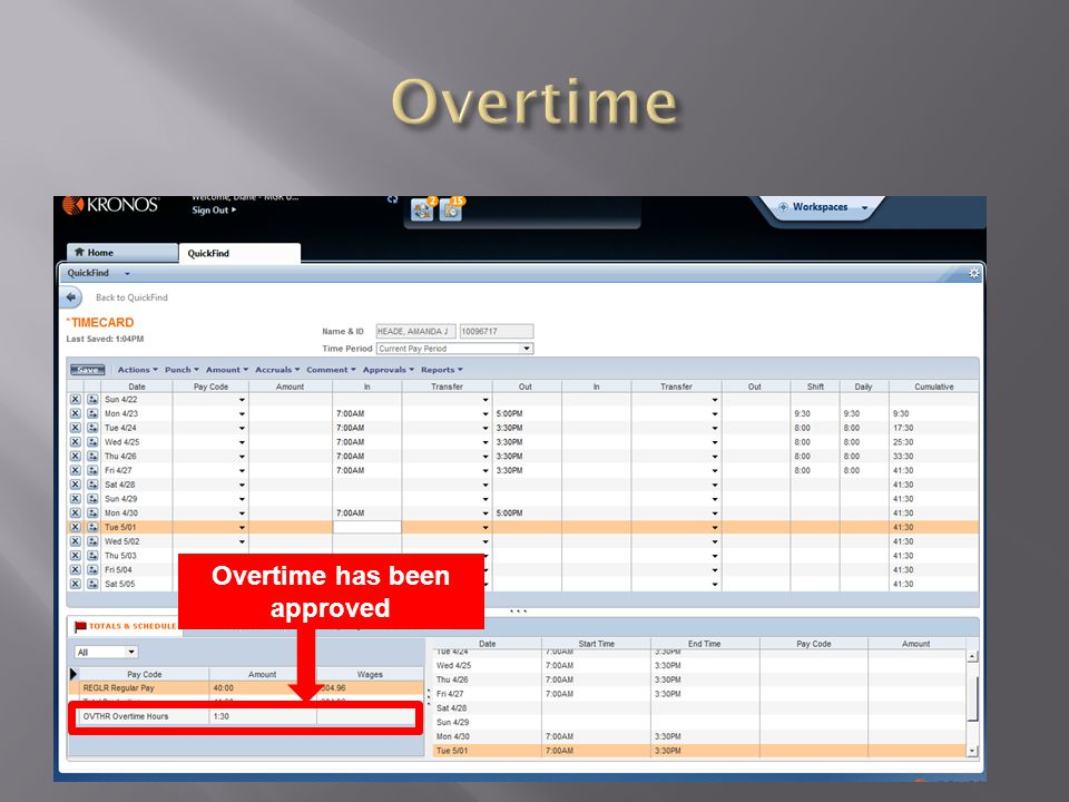 Overtime has been approved