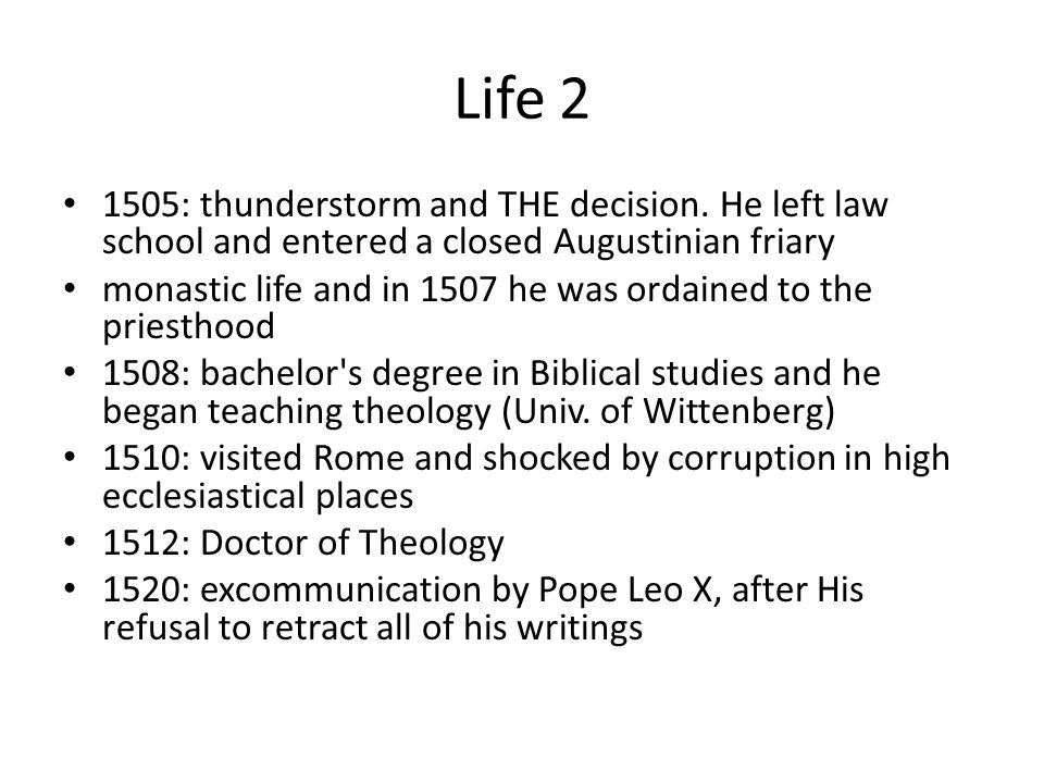 Life 2 1505: thunderstorm and THE decision.