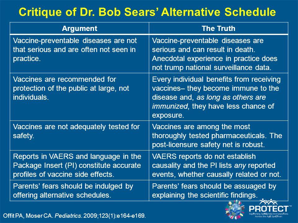 Offit PA, Moser CA. Pediatrics. 2009;123(1):e164-e169.