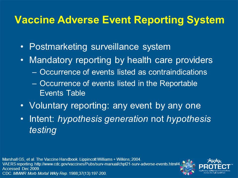 Marshall GS, et al. The Vaccine Handbook. Lippincott Williams + Wilkins; 2004.