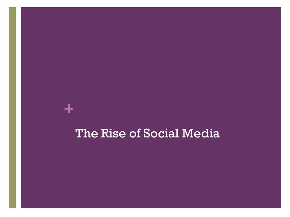 + The Rise of Social Media