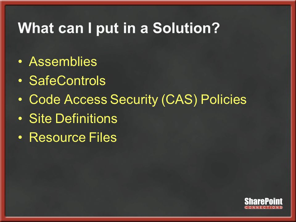 What can I put in a Solution.