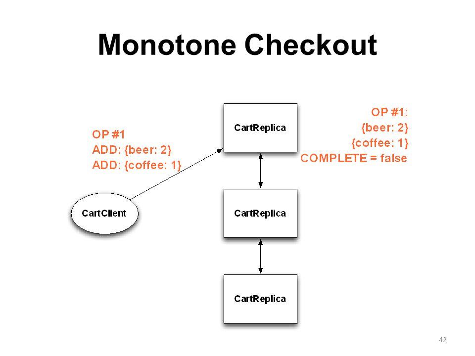 Monotone Checkout 42